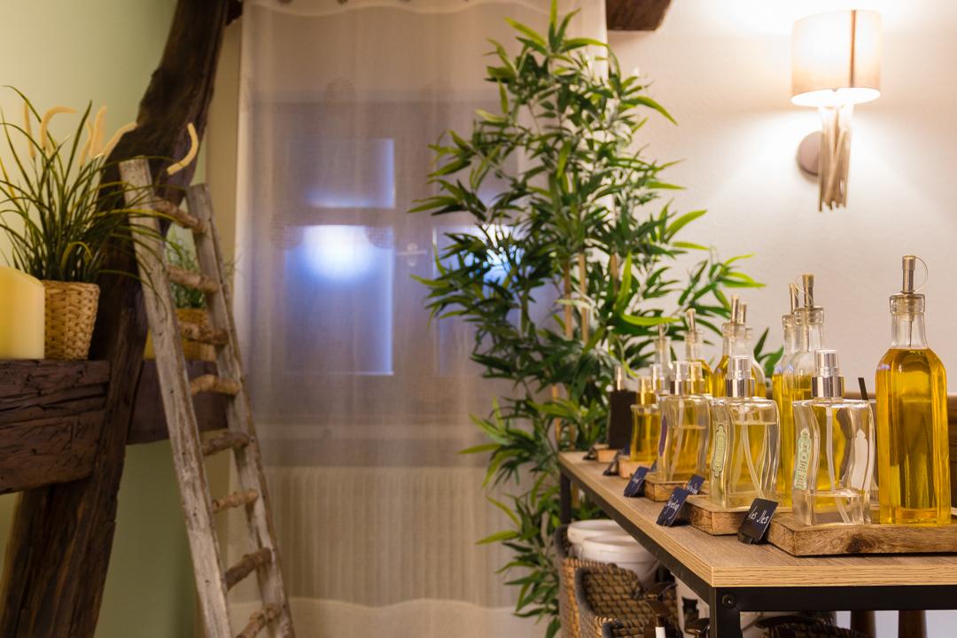 Notre bar à huiles à l'étage