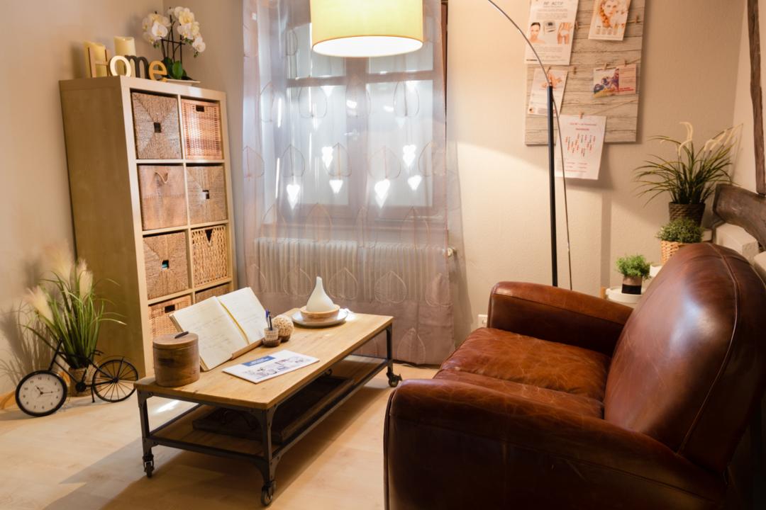 Un espace détente où vous apprécierez une collation après votre soin